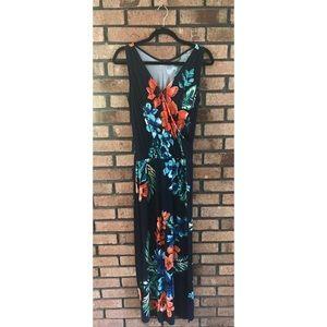 Tommy Bahama Floral V Neck Maxi Dress